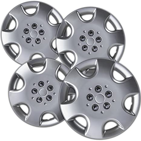 OxGord Tapacubos para ruedas de 10 – 03 Chrysler PT Cruiser Juego de 4 unidades fundas
