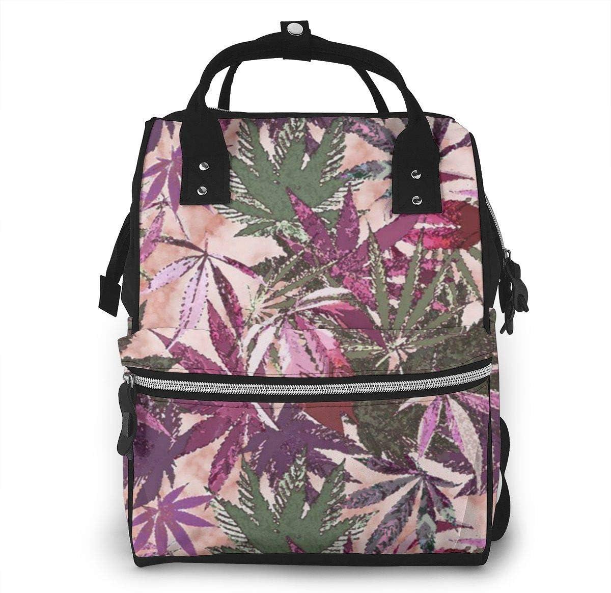 nbvncvbnbv Mochila para pañales Mochila Cannabis Sativa Multifunción Mochila de viaje de gran capacidad Mochila para bebés Pañal Organizador Mochilas casuales impermeables y duraderas