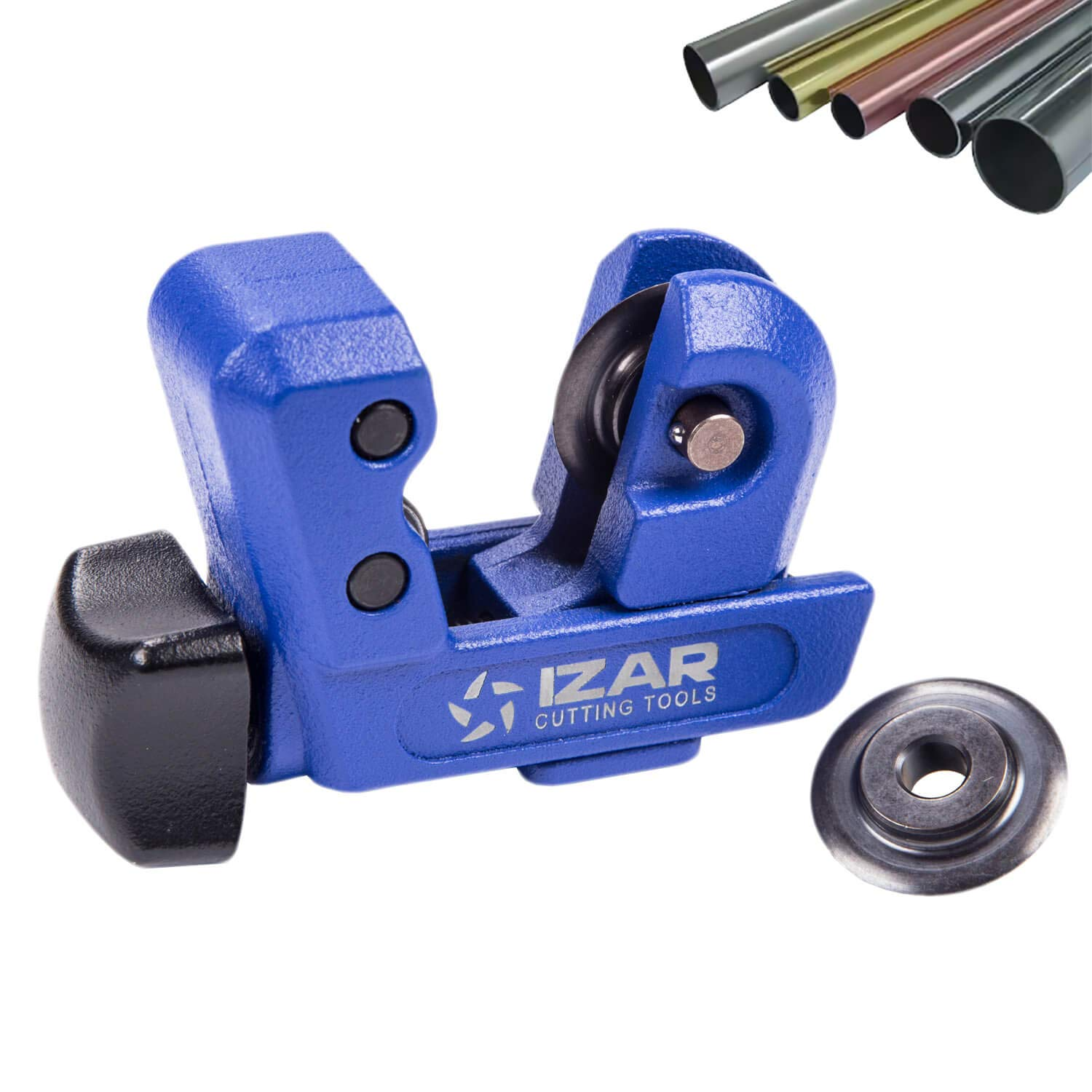IZAR Mini Tubing Cutter Close Quarters, 1/8-inch to 1-inch Copper EMT Tube Cutters with Spare Blade Professional