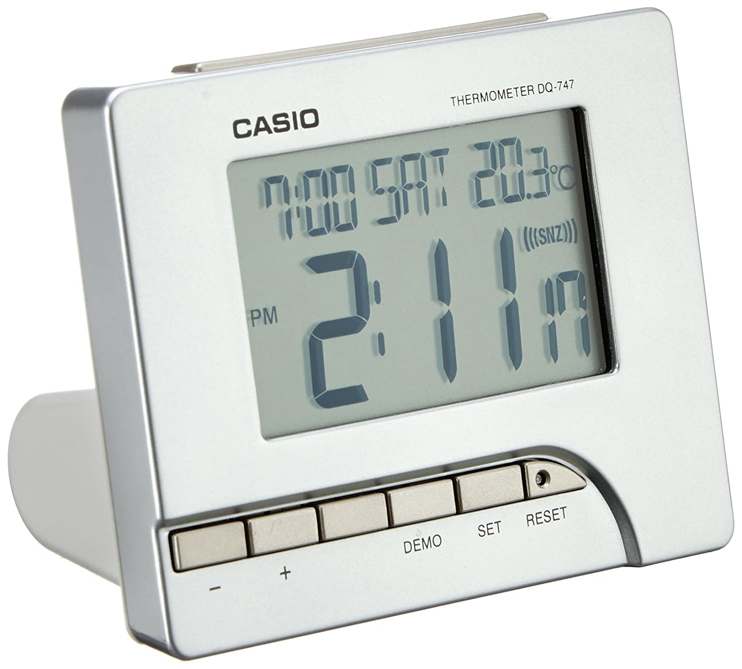 Casio Digital LED Time Temperature Snooze Calendar Weather Alarm Clock DQ747-8EF