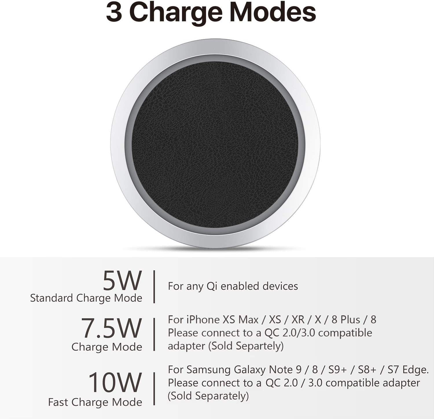 X Galaxy S20 S10 S9 S8 XS TNP Wireless Charger 10W Power Pad 8 Xs Max 11 Pro 8 Plus PU Leather 11 Pro Max Premium Note 10 Slim Industrial Dock Station Fast Charging for iPhone 11 XR
