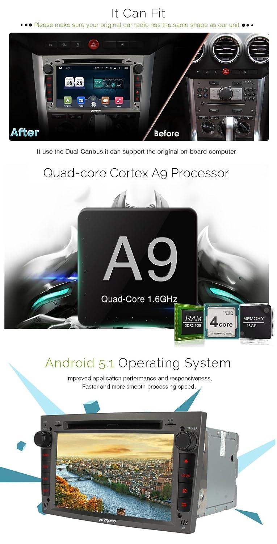 Pumpkin Android 5.1 Lollipop Quad Core Car Radio Double: Amazon.co.uk:  Electronics