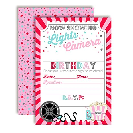 Image Unavailable Not Available For Color Movie Night Birthday Party