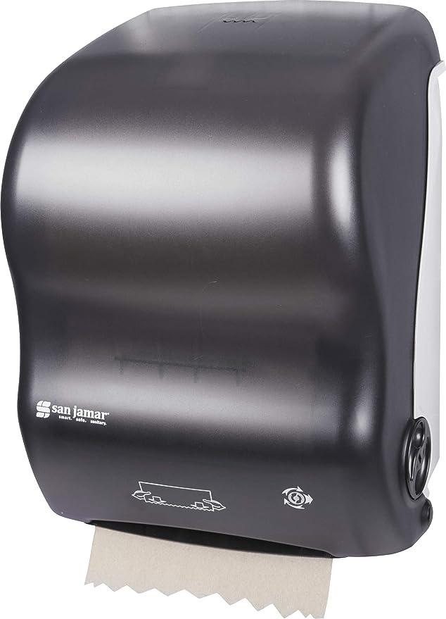 San Jamar T7000 Simplicity Mechanical Hands Free Roll Towel Dispenser Arctic Blue Fits 8 Wide and 4 Diameter Stub Roll T7000TBL 11-15//16 Width x 16-1//8 Height x 9-1//2 Depth Fits 8 Wide and 4 Diameter Stub Roll