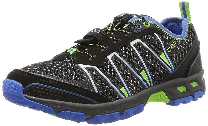 Mens Altak Trail Running Shoes, Black Blue-Cristal-Peach Fluo F.lli Campagnolo
