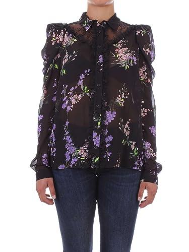 Pinko 1B12L2-6701 Camiseta Mujer Negro 44
