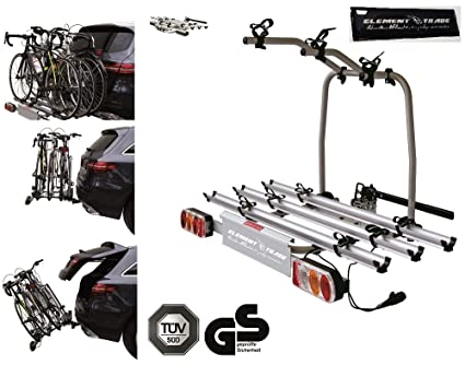 Portabicicletas Remolque para 3 bicicletas Easy Bike + Element ...