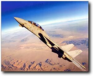 Aviation Wall Decor Grumman F-14 Tomcat Fighter Jet Airplane Aircraft Art Print Poster (16x20)
