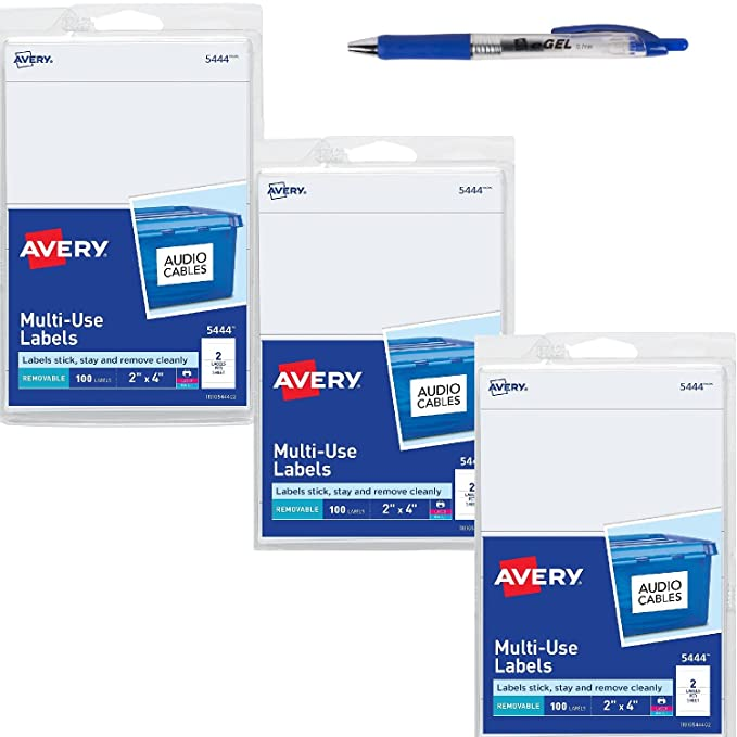 Amazon Avery Removable Print Or Write Labels 2 X 4 Inches