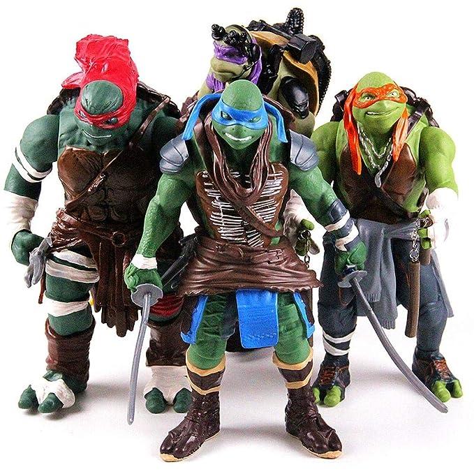 Figura de Anime Las Tortugas Ninja Modelo Retro del ...