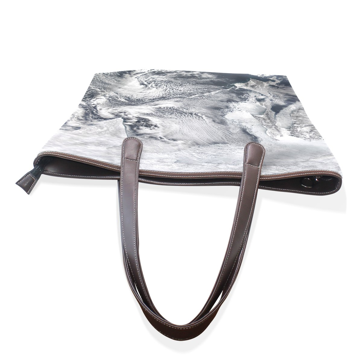 SCDS Painting The Waves PU Leather Lady Handbag Tote Bag Zipper Shoulder Bag