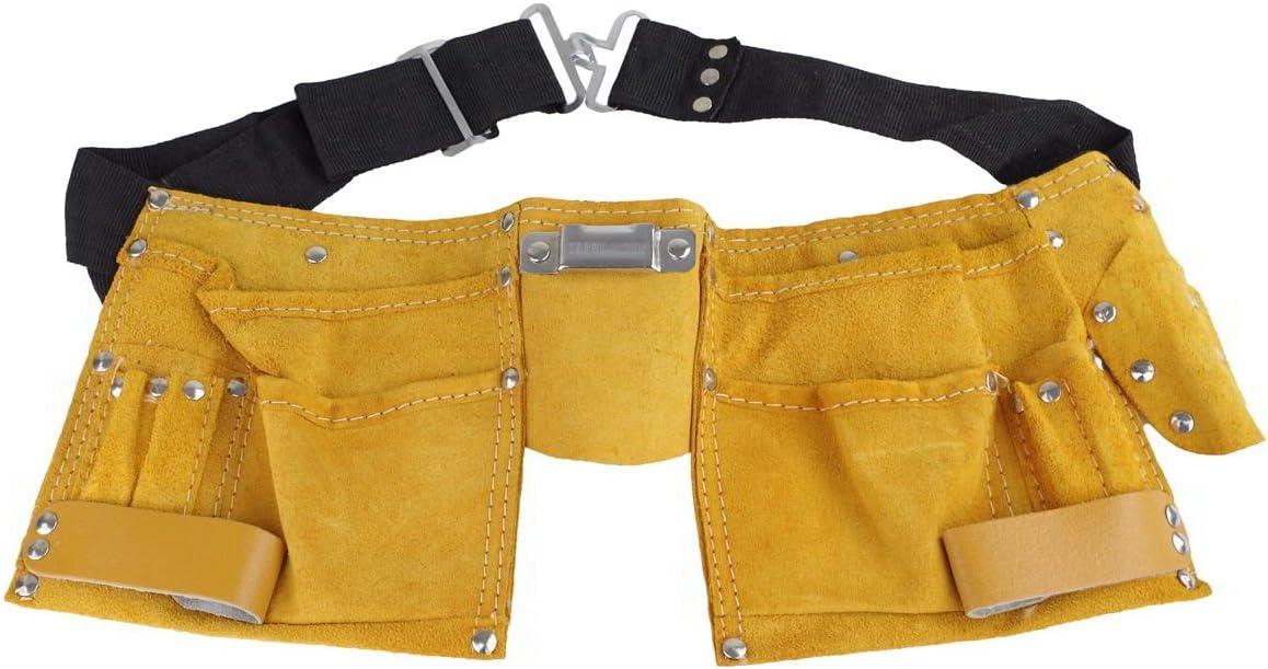 Werkzeugg/ürtel Leder 11 Taschen