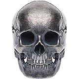 Forobb Skull Bead Charm Pendant for Necklace Bracelet 925 Sterling Silver Handcrafted Gothic Rock Punk Diablo Biker Retro [St