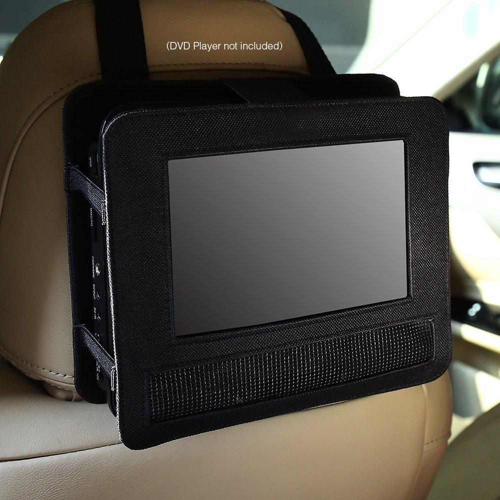 NAVISKAUTO Car Headrest Mount Universal 10.1 Inch Portable DVD Player Case Holder - Black
