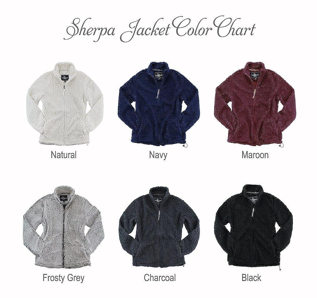 Sorority Letters Shop Alpha Phi Full Zip Sherpa Jacket