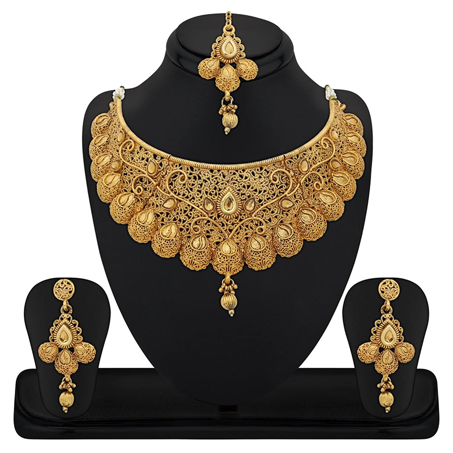 africanbijoux and multidesign golden product beads necklace