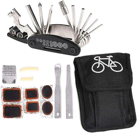 Kit clé hexagonale 15 en 1 multifonctions réparation vélo bicyclette vtt outil