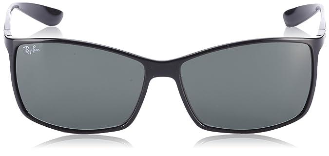 6a86a85fac90a Amazon.com  Ray-Ban Liteforce Rectangular Sunglasses Black 62 mm  Ray-Ban   Clothing