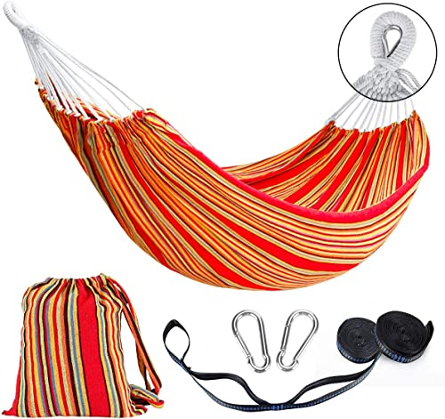 Double Hammock 2 Person Cotton Travel Hammock