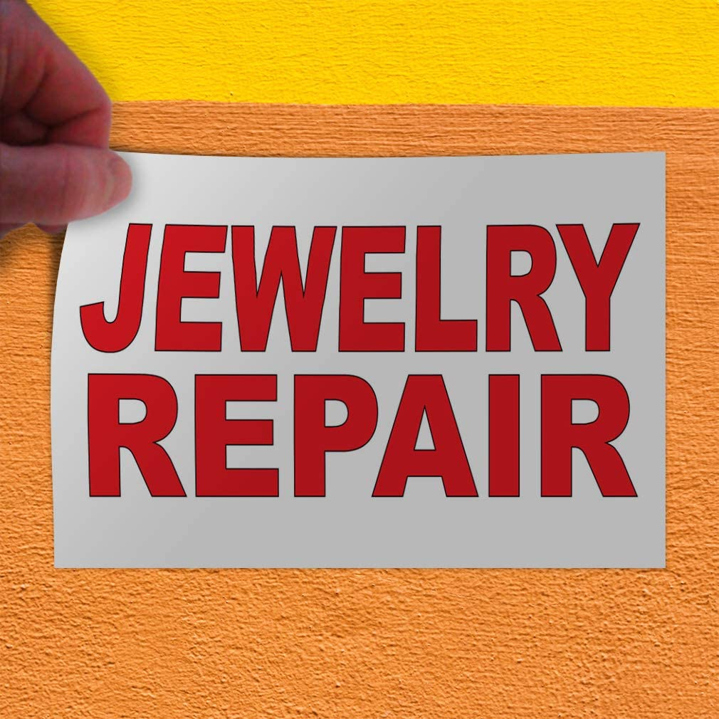 Decal Stickers Multiple Sizes Jewelry Repair Red B Industrial Vinyl Safety Sign Label Business 36x24Inches