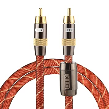 Adaptadores de Audio, TZ/A 1 m OD8.0mm chapado en oro de