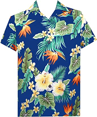 Hawaiian Shirts Boys Flower Leaf Beach Aloha Party Camp Holiday Casual