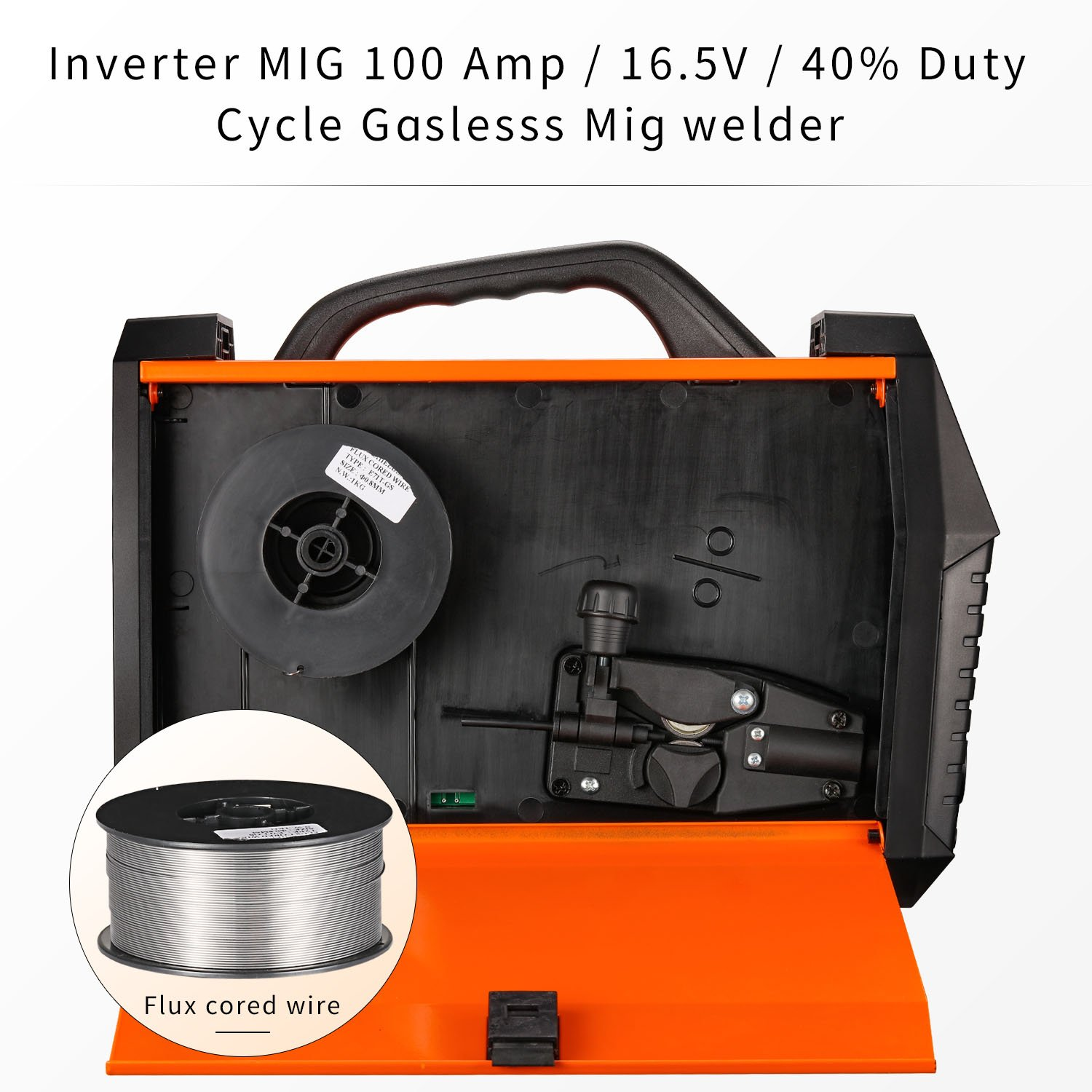 HITBOX MIG Welder 120Amp Gasless Flux Cored 220V DC Mini Portable Inverter Gasless Digital MIG Welding Machine