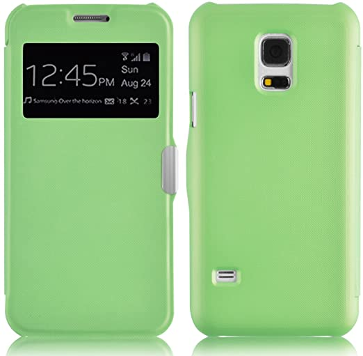 723 opinioni per Flip Cover Galaxy S5 Mini, JAMMYLIZARD Custodia in Poliuretano e Microfibra con