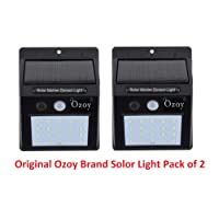 Ozoy Weather Resistant 20 LED Motion Sensor Solar Light Solar Outdoor Lights Waterproof with Motion Sensor (Pack of 2)