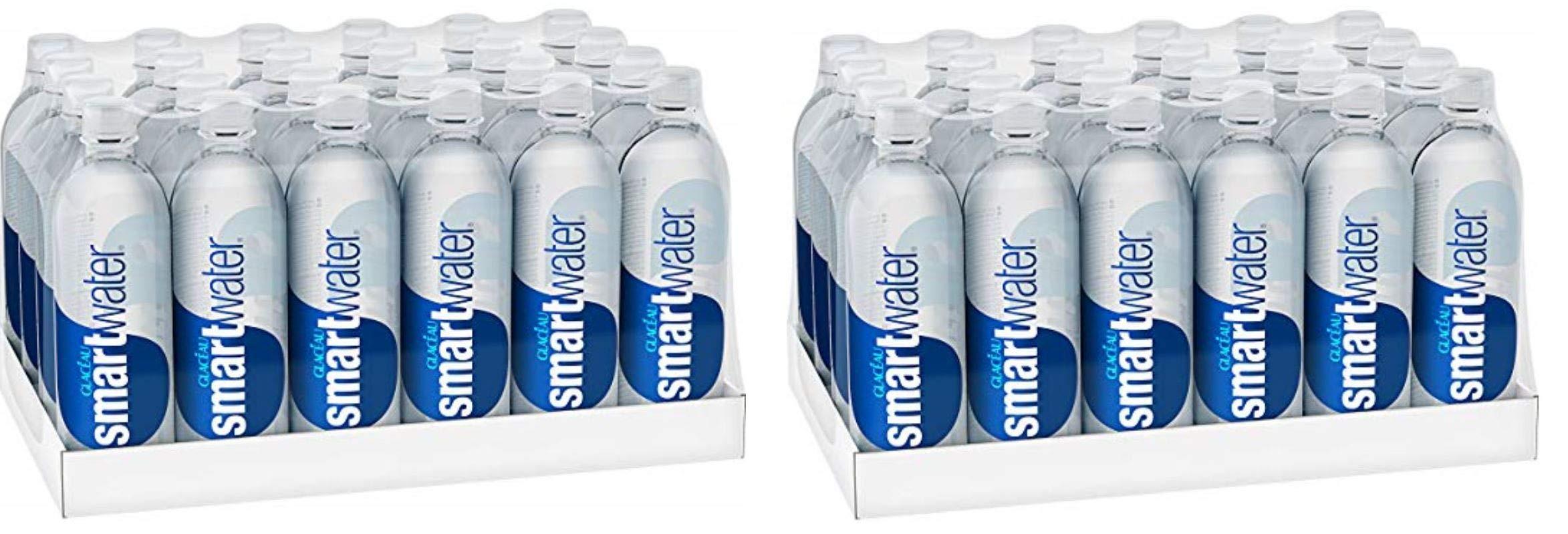 smartwater vapor distilled premium water bottles, 20 fl oz, 24 Pack (2 Cases)