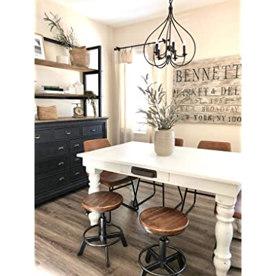 Buy Industrial Bar Stool Set Of 2 Swivel Adjustable Counter Height Stool Farmhouse Kitchen Stools 15 21 Online In Indonesia B07zf642fj
