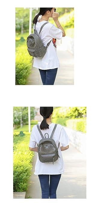 Amazon.com: Mochila de piel sintética para mujer con diseño ...