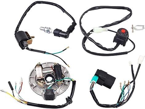 pit bike wiring harness amazon com zxtdr wire harness wiring loom cdi coil magneto  zxtdr wire harness wiring loom cdi coil