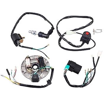 ZXTDR Wire Harness Wiring Loom CDI Coil Magneto Ignition Rebuild Kit for  Kick Start Dirt Pit Bike 50-125cc