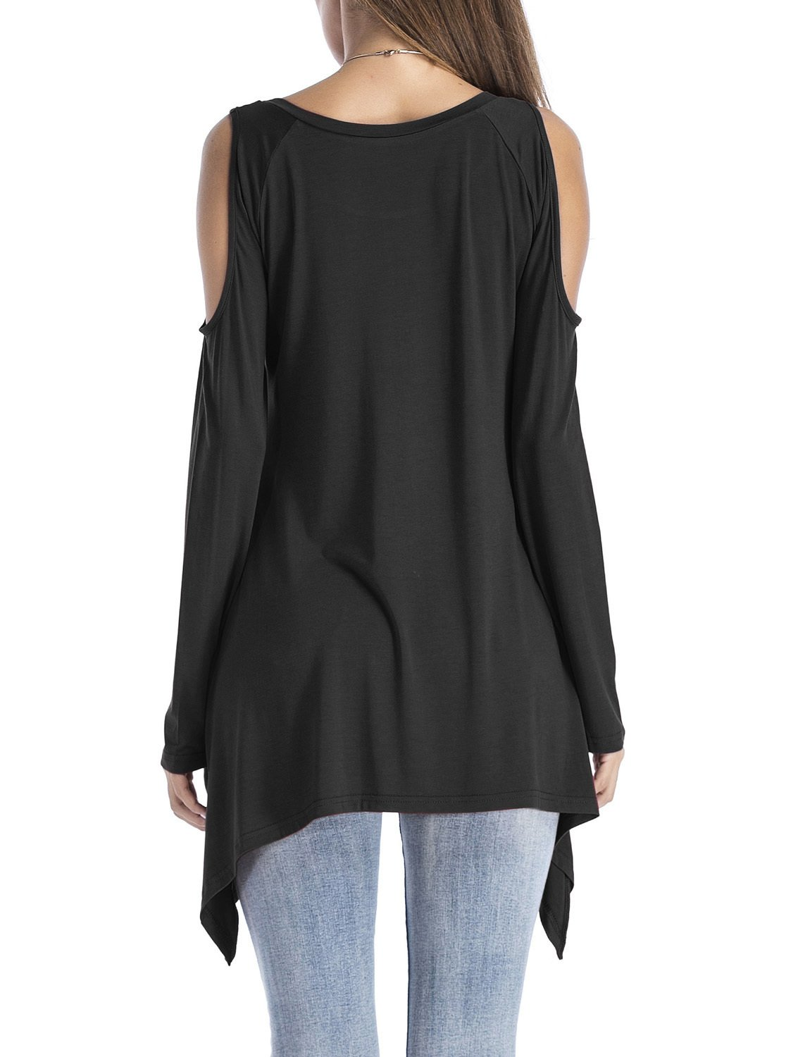 947625d6e969 Women's Cold Shoulder Long Sleeve Swing Loose Fit T-Shirt Tunic Tops Black  Large - ADREAMLYZSY010-BKL < Tunics < Clothing, Shoes & Jewelry - tibs