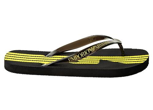 2ca83d07e Emporio Armani EA7 men s rubber flip flops sandals sea world 7 lines grey   Amazon.co.uk  Shoes   Bags