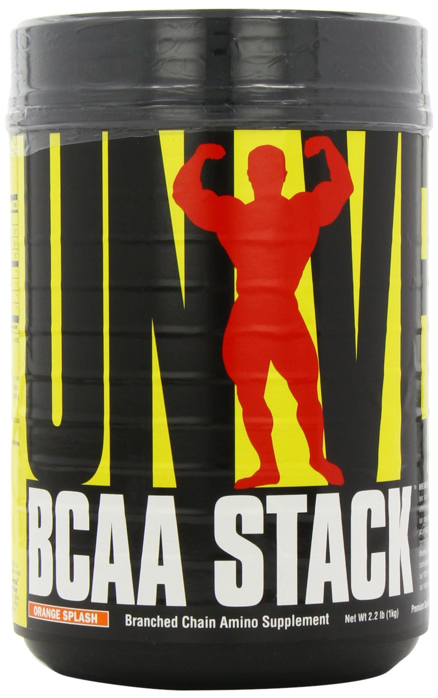 Universal Nutrition BCAA Stack – Branched Chain Amino Acids with Glutamine, Orange Splash