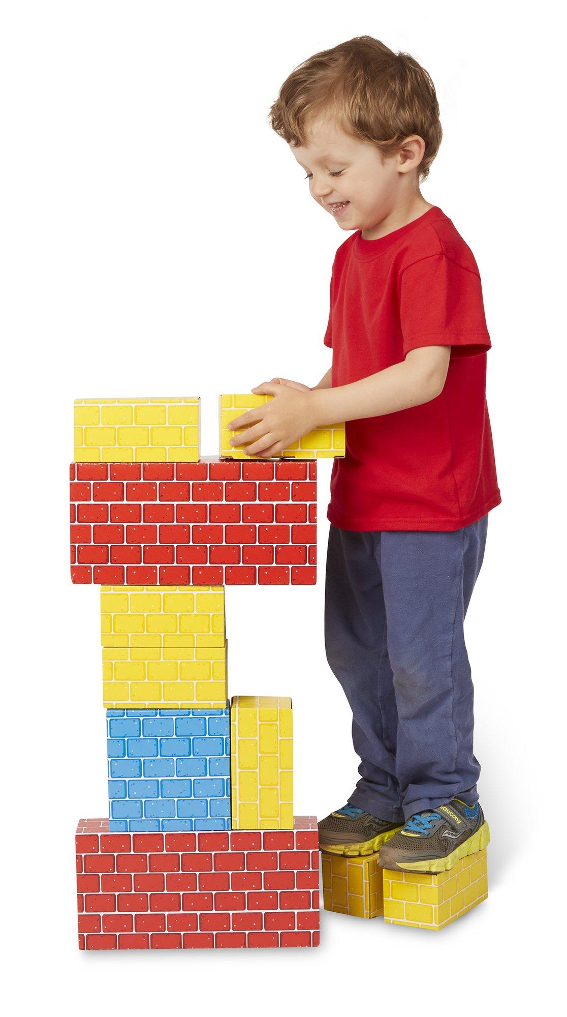 Melissa & Doug Extra-Thick Cardboard Building Blocks - 24 Blocks in 3 Sizes by Melissa & Doug (Image #2)