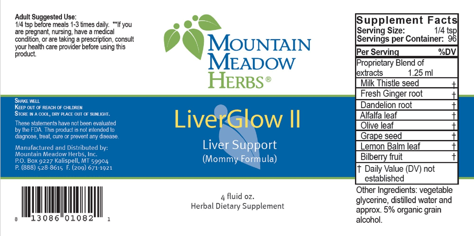 LiverGlow II -4oz- Liver Support (Mommy Formula)