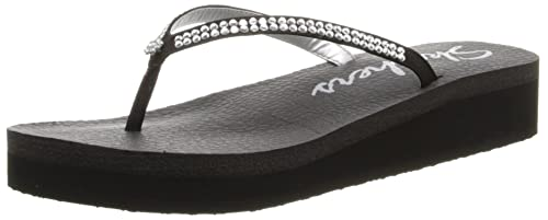 4ad41ccf1ef9 Skechers Women s Black Flip-Flops and House Slippers - 4 UK India ...