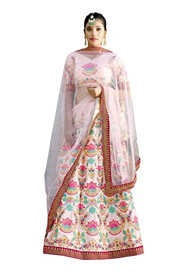 69dcca5ed8 Fashion Ka Fatka Indian Harbour Peach Silk Embroidered Work bridal stitched lehenga  choli (42XL Size): Amazon.in: Clothing & Accessories