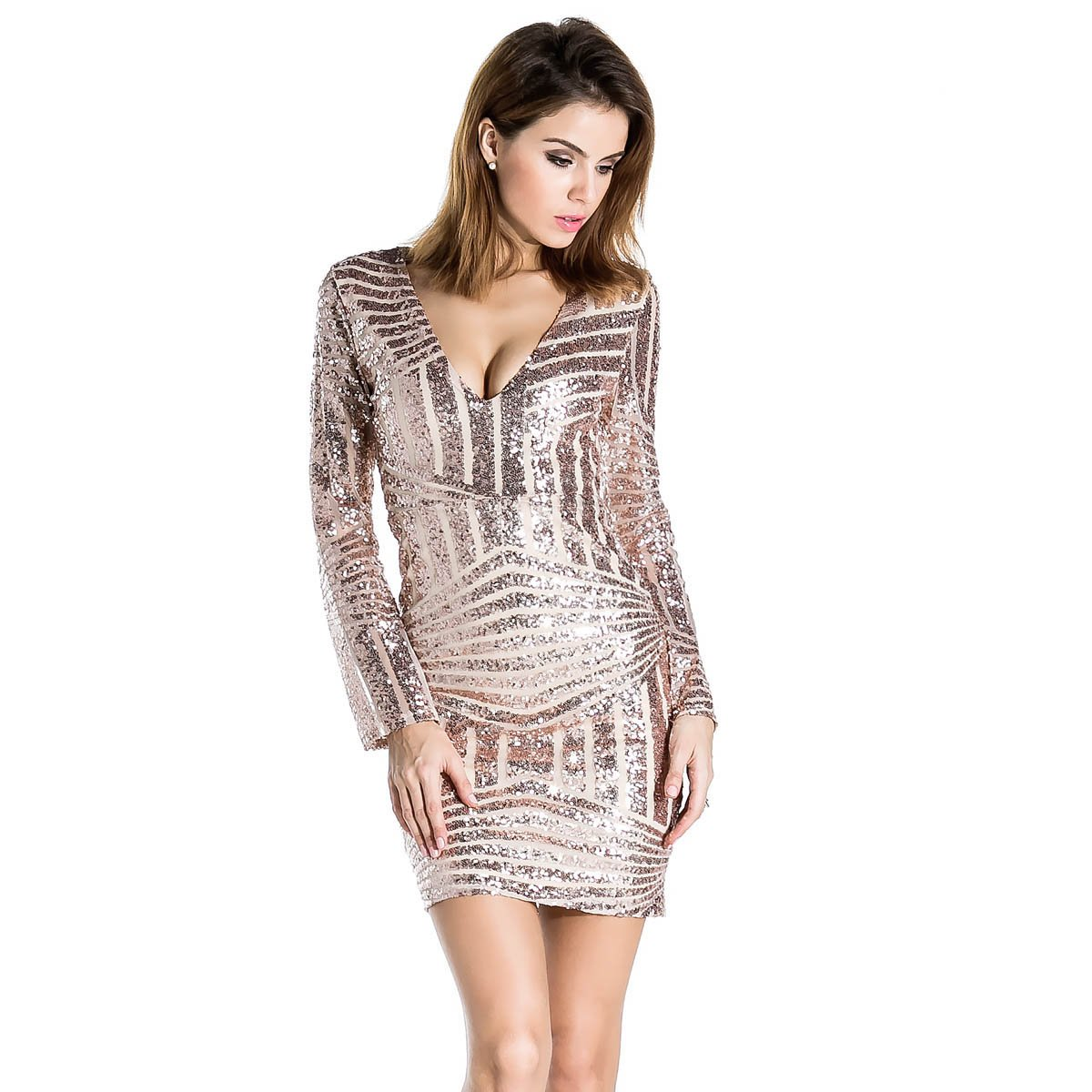 Sequin Gold Dress: Amazon.com