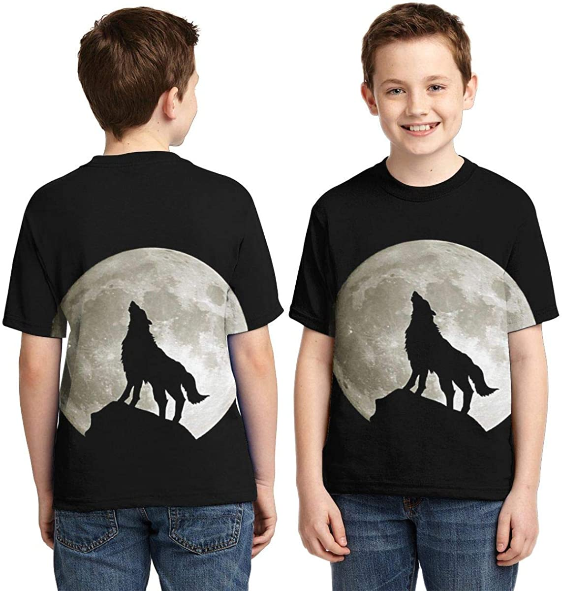 AMODECO Thumb Wolf 3D Printed Tee T-Shirt for Youth Teenager Boys Girls