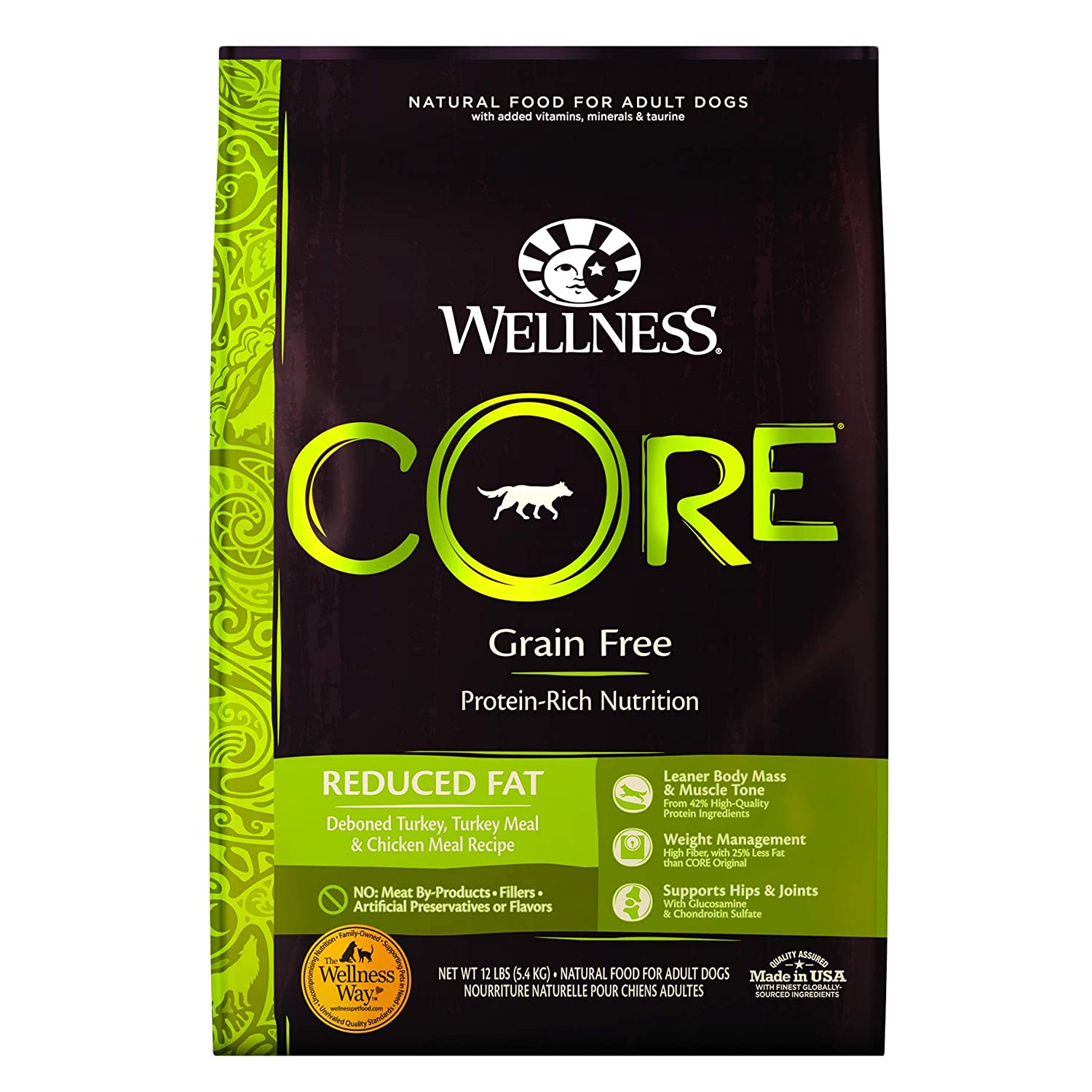 6. Wellness CORE Grain-Free Reduced Fat Turkey & Chicken Recipe Dry Dog Food