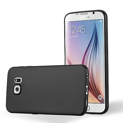 19424a85267f7a Cadorabo Coque en Silicone pour Samsung Galaxy S6 Noir métallisé ...
