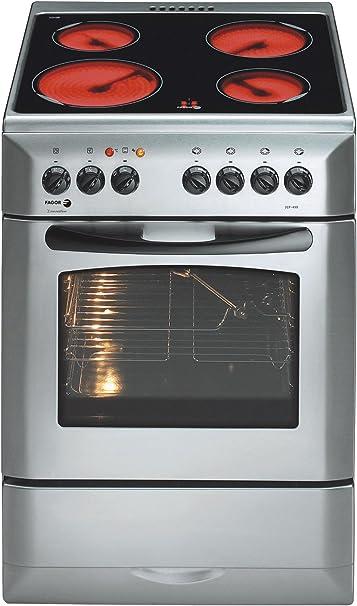 Fagor 3CF-4 V X - Cocina (Cocina independiente, Plata, Giratorio, Acero inoxidable, Cerámico, Eléctrico): Amazon.es: Hogar