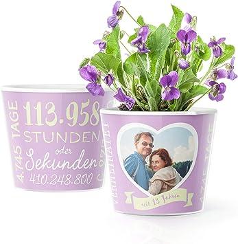 Facepot - Store 13. Hochzeitstag Geschenk - Blumentopf