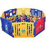 JAXPETY Baby Playpen Kids 8 Panel Safety Play Center Yard Home Indoor Outdoor New Pen