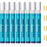 NADAMOO Grout Pen White 8 pcs with 8 Replacement Tips,Tile Grout Paint Pen Touch Up Repair Marker for Bathroom Kitchen…