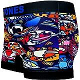 BETONES (ビトーンズ) メンズ ボクサーパンツ DINHO BLUE dwearsステッカー入り ローライズ アンダーウェア 無地 ブランド 男性 下着